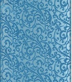 Jo-Ann Stores Brocade Fabric Intricate Scroll Turquoise