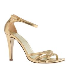 J.Crew - Metallic leather high-heel sandals