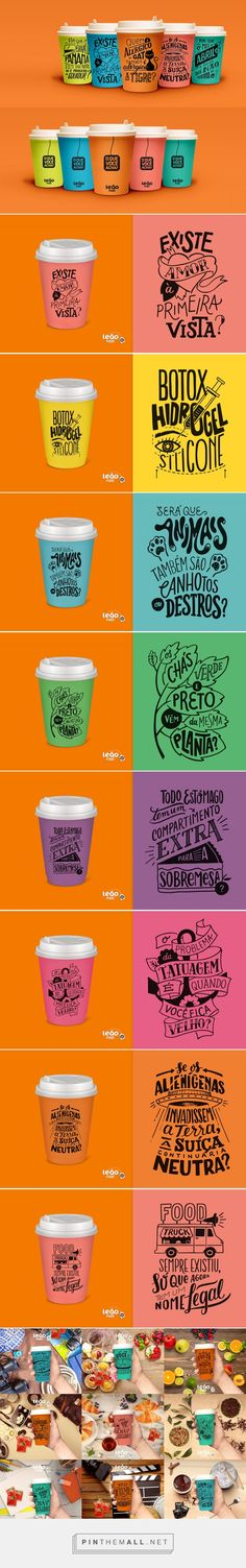 Leão Fuze Letterings / Series of 60 compositions of lettering + illustration made for an ad campaign of Leão, the Coca-Cola branch of tea in Brazil. by Cyla Costa, Cristina Pagnoncelli, Jackson Alves, 6 Avril 2016 Bottle Packaging, Food Packaging, Packaging Design, Typographie Logo, Food Menu Design, Banners, Typography Inspiration, Bottle Design, Portfolio Design