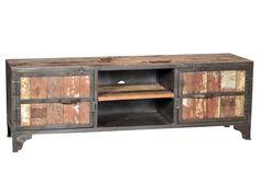 Vintage Industrial T.V Cabinet, Reclaimed Teak Wood Wood, Reclaimed Wood, Cabinet, Vintage Industrial Furniture, Furniture, Teak Wood, Tv Cabinets, Home Decor, Vintage