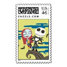 Jack and Sally Moon Stamps
