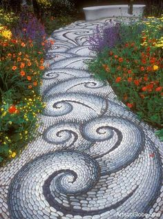 whimsical garden art | Brick, stone, tile, sand, grass…garden paths can be beautiful, fun ...