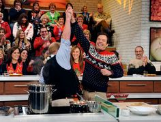 Jimmy Fallon at The Chew's Ugly Sweater Party.