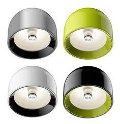 Scopri Applique Wan -Plafoniera, Verde di Flos, Made In Design Italia