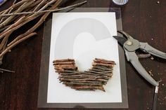 Stick letter art - stage 1