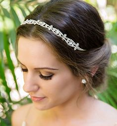 Hair Accessories | Art Deco Crystal Bridal and Wedding Headband Silver *** Continue to the product at the image link.-It is an affiliate link to Amazon. #HairAccessories