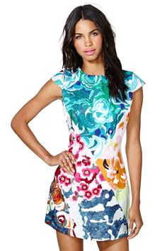 Shakuhachi Flower Bomb Embroidered Dress would be such a cool vacation/resort dress