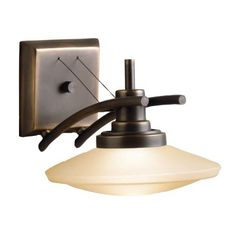 """Structures Collection Umber Glass 7 1/2"""" High Wall Sconce -"""
