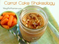 Carrot Cake Shakeology recipe with flavors of carrot cake - vanilla, carrots, nutmeg, cinnamon, walnuts - without the extra calories, fat, sugar or GUILT.