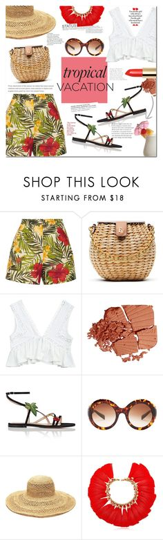 """Welcome to Paradise: Tropical Vacation"" by mery90 on Polyvore featuring Miguelina, Frances Valentine, Gianvito Rossi, Dolce&Gabbana, Mar y Sol, VANINA, TIKI, summerstyle, TropicalVacation and summer2017"