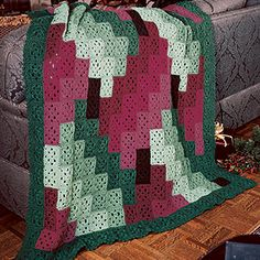 Leisure Arts - Berry Merry Bargello Afghan Crochet Pattern ePattern, $4.99 (http://www.leisurearts.com/products/berry-merry-bargello-afghan-crochet-pattern-digital-download.html)
