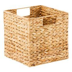 Cases of Water Hyacinth Storage Bins with Handles Toy Storage Cubes, Storage Baskets, Storage Ideas, Pantry Baskets, Kitchen Organization Pantry, Organization Hacks, Pantry Ideas, Kitchen Storage, Organized Kitchen