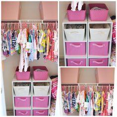 Project Nursery - Nursery Closet Organization