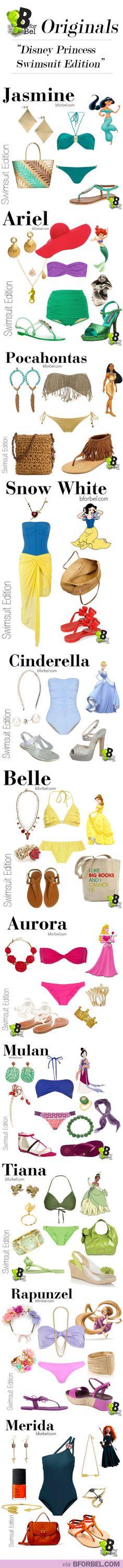 Swimwear: Disney Princess Style