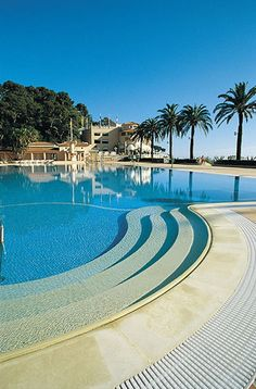 Olympic size swimming pool at the Monte-Carlo Beach Hotel
