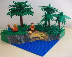 A grand Day out Legos, Lego Lego, Lego Beach, Lego Humor, Lego Structures, Lego Tree, Lego Challenge, Lego Ship, Amazing Lego Creations