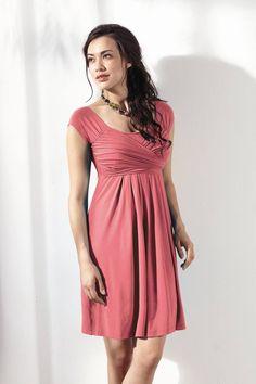 32706ca4272db Mothers En Vogue Lola Mae Nursing Dress - Bamboo, Geranium Pink - Izzy's Mum  Breastfeeding