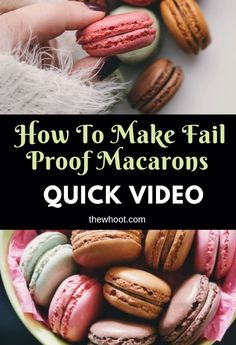 Easy Fail Proof Macarons Recipe For Beginners Easy Macaroons Recipe, French Macaroon Recipes, How To Make Macaroons, French Macaroons, Making Macarons, French Desserts, Homemade Macarons, Baking Recipes, Cookie Recipes