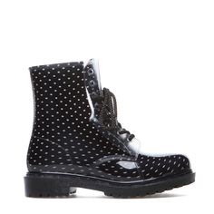 Polka Dot Rain Boot - black shoes Accessories | love shoes, bag & jewels |  #women #instyle