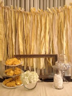 ribbon swag backdrop for outdoor wedding | Like this item?
