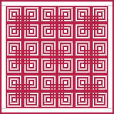 quilt pattern - lovers knot (log cabin)
