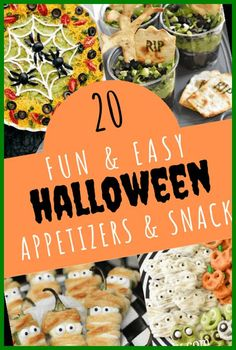 Halloween parties should be fun, not stressful. So here are 20 great ideas for awesome and amazing gasp-worthy Halloween Appetizers and snacks.#Appetizers #Halloween #Snacks #Easy #and halloween appetizers for adults 20 Easy and Fun Halloween Appetizers and Snacks 36+ | halloween appetizers for adults | 2020
