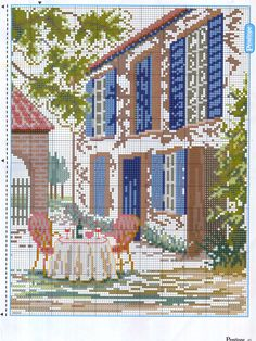Cross stitch *♥* Point de croix patio2