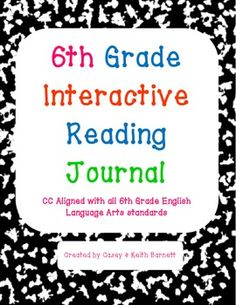 """Use this 6th grade journal to encourage writing through interactive activities as well as to get your students familiar with the CC """"I Can"""" statements!"""