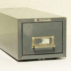 Vintage file drawer   file box  file cabinet  card by moxiethrift, $14.50