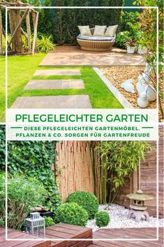 Garden easy to care for: garden joy with little effort easy-care garden furniture plants & Garden Projects, Celebrity Weddings, Garden Furniture, Most Beautiful Pictures, Stepping Stones, Patio, Architecture, Outdoor Decor, Plants