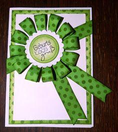 jennyskreativewelt: Geburtstagskarte mit Papierschleife