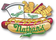 Nathan's Famous Hot Dogs in Coney Island, New York since 1916. Nathan's have unmatched taste and texture; they beat the heck out of the Oscar Mayer brand. I like mine topped with spicy brown mustard and sauerkraut.
