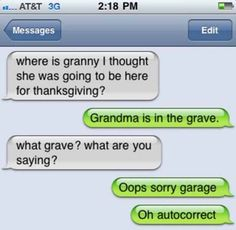 grandma is in the grave