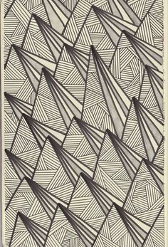 Triangles and lines pattern design - I am obsessively drawing triangles and lines. This looks very similar to my triangle wave pattern. Pretty Patterns, White Patterns, Textures Patterns, Color Patterns, Surface Pattern, Pattern Art, Surface Design, Pattern Design, Motif Design