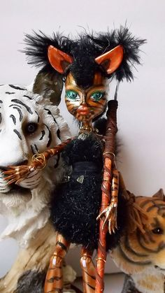Amazonian Warrior Cat WomanTigress Monster High by CuteWeirdFluffy, $50.00