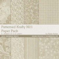 Patterned Krafty Paper Pack No. 01