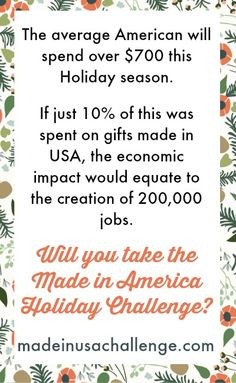 Made in USA Challenge - American made goods that are safe, ethically made, eco-friendly, and awesome.