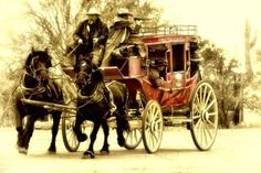 Stagecoach on the Run by Tom Taylor