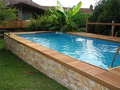 Above Ground Pool Landscaping, Backyard Pool Landscaping, Backyard Pool Designs, Small Backyard Pools, Swimming Pools Backyard, Backyard Pergola, Swimming Pool Designs, Best Above Ground Pool, Above Ground Swimming Pools
