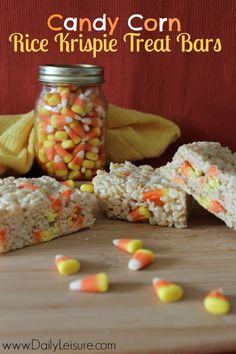 Candy Corn Rice Krispie Treat Bars Recipe - Daily Leisure