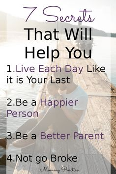 Happiness / Productivity / Staying on Budget / Relationships / Life / Live Each Day Like It Is Your Last