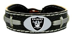 Oakland Raiders Team Color Football Bracelet