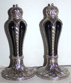 Vintage Silverplate Salt & Pepper Shaker Set Wallace Silversmiths  #WallaceSilversmiths