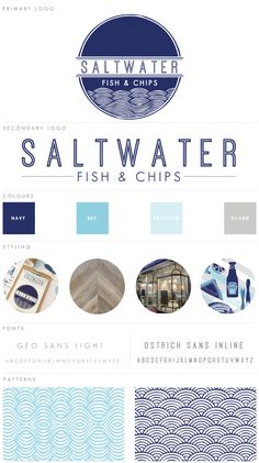fish and chip shop menu template - branding saltwater fish chips branding identity