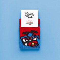 Murdoc Jr kids' socks bring footwear to the next level with funny personalities. Pop on a pair of our kids' socks and voila! a secret sock puppet theatre at your toes!
