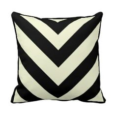Shop Black and White Chevron Pattern Pillows created by PillowPretty. Chevron Patterns, Zig Zag Pattern, Custom Pillows, Decorative Pillows, Chevron Throw Pillows, Signature Style, Black And White, Fabric, Color