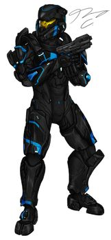 Commission - Spartan NanoDefiant by ïzuale DeviantArt Halo Spartan Armor, Halo Armor, Halo Reach, Character Design, Character Concept, Character Art, Armor Concept, Concept Art, Halo Cosplay