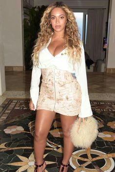 be52cdef3e9c Beyonce In Top  Ellery Skirt  Zimmermann Bag  Brother Vellies Shoes   Azzedine Alaia