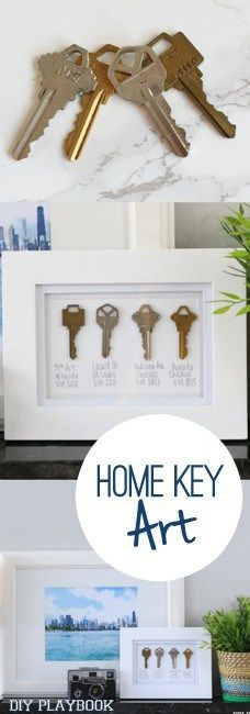 Frame your keys with your previous addresses to remember your old homes.