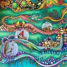 Johanna Basford Books, Johanna Basford Coloring Book, Colouring Pages, Adult Coloring Pages, Coloring Books, Enchanted Forest Coloring Book, Joanna Basford, Art Drawings For Kids, Drawing Hair